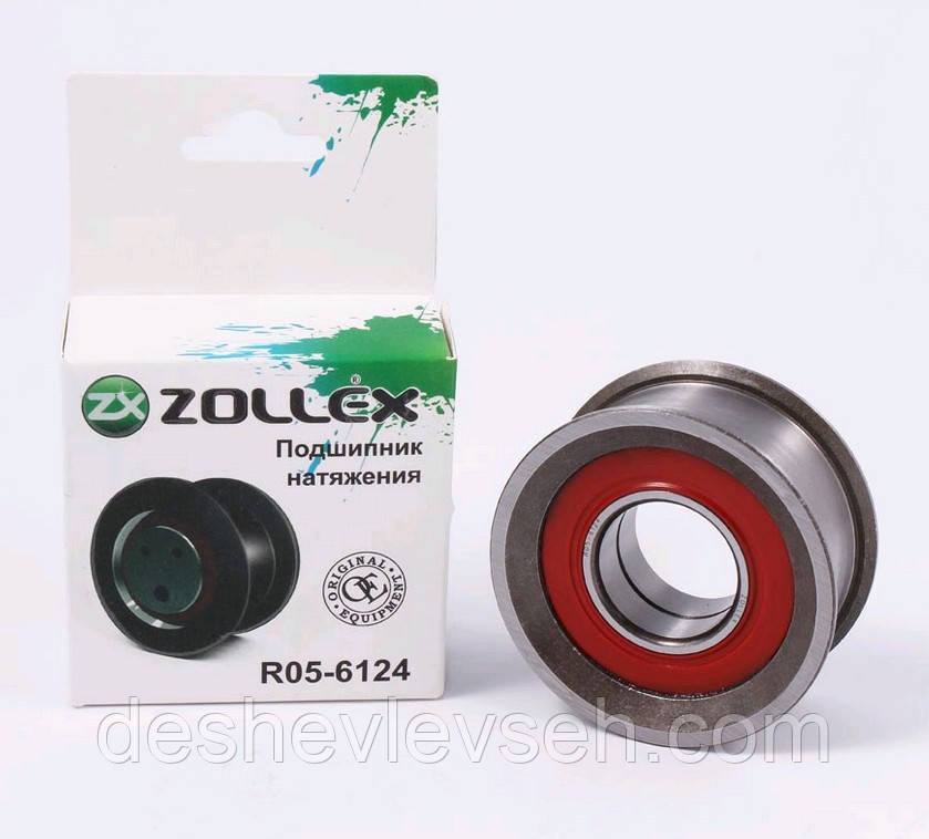 Подшипник ГРМ ВАЗ-2105-08 ролик натяжит.ZOLLEX ст. о (R 05-6124), 2105-1006124 (ZOLLEX)