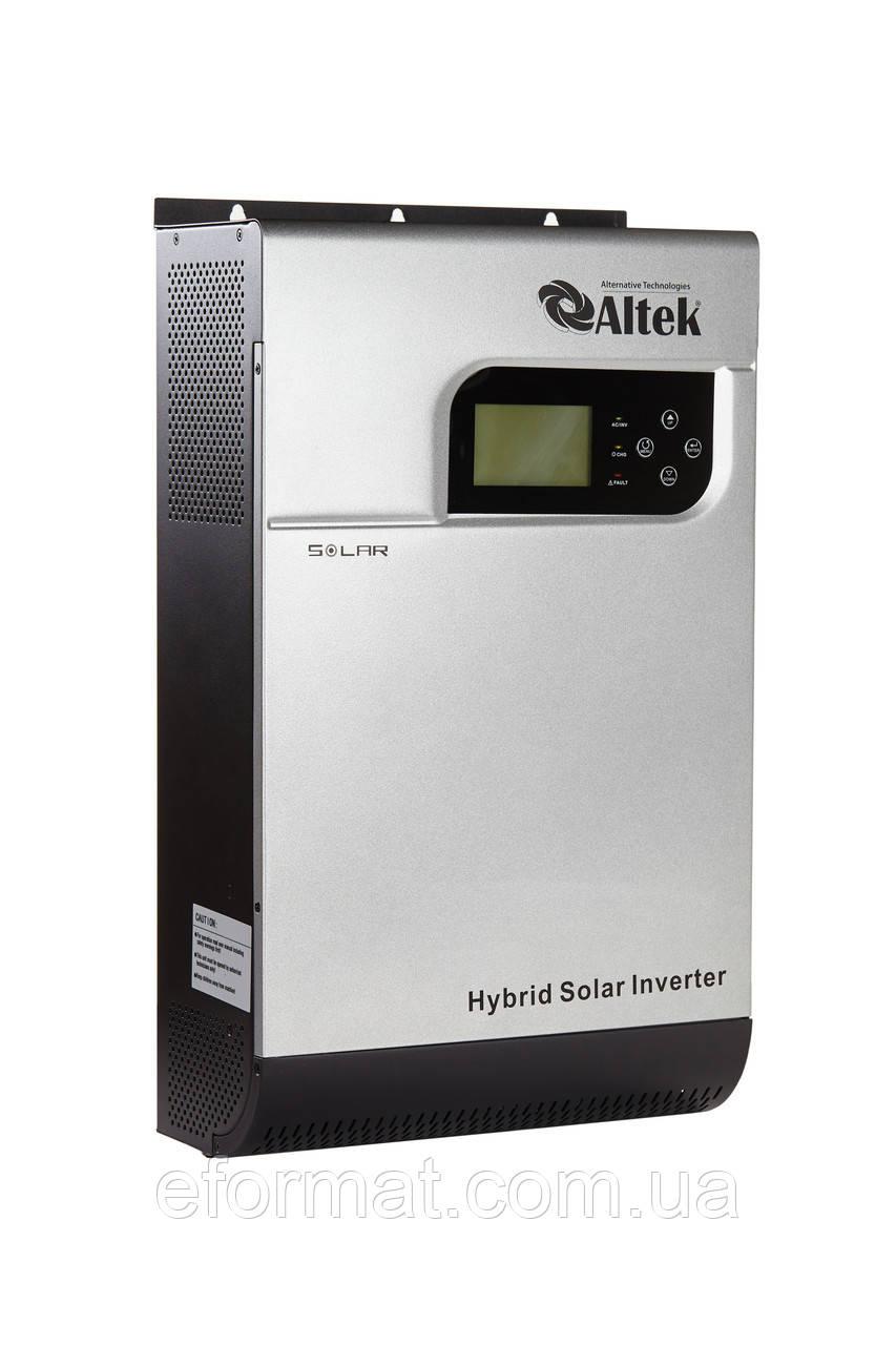 Инвертор Altek PV18-5K MPK со встроенным  МРРТ контроллером 60А, 5000ВА/ 4000W