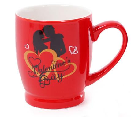 Кружка фарфоровая кофейная Влюбленные сердца, 4 вида, 330мл (588-142)