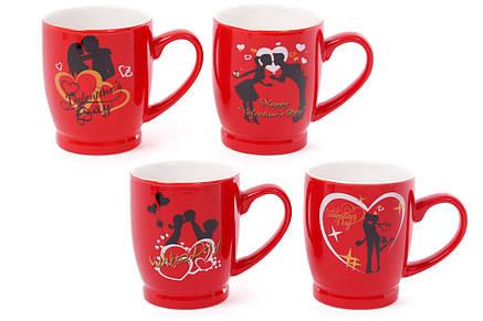 Кружка фарфоровая кофейная Влюбленные сердца, 4 вида, 330мл (588-142), фото 2