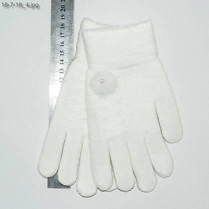 Оптом детские двойные перчатки на девочек 6-9 лет - №18-7-18, фото 2