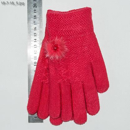 Оптом детские двойные перчатки на девочек 6-9 лет - №18-7-18, фото 3