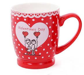 Кружка фарфоровая кофейная Валентинов день, 4 вида, 330мл (588-143), фото 2