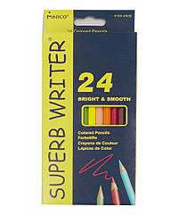 """Олівці кольорові  """"Superb writer"""" 24 кольори, арт. 4100-24СВ, MARCO"""