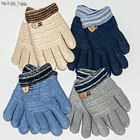 Детские перчатки с меховой подкладкой на мальчика 1-3 года - №18-7-20, фото 1