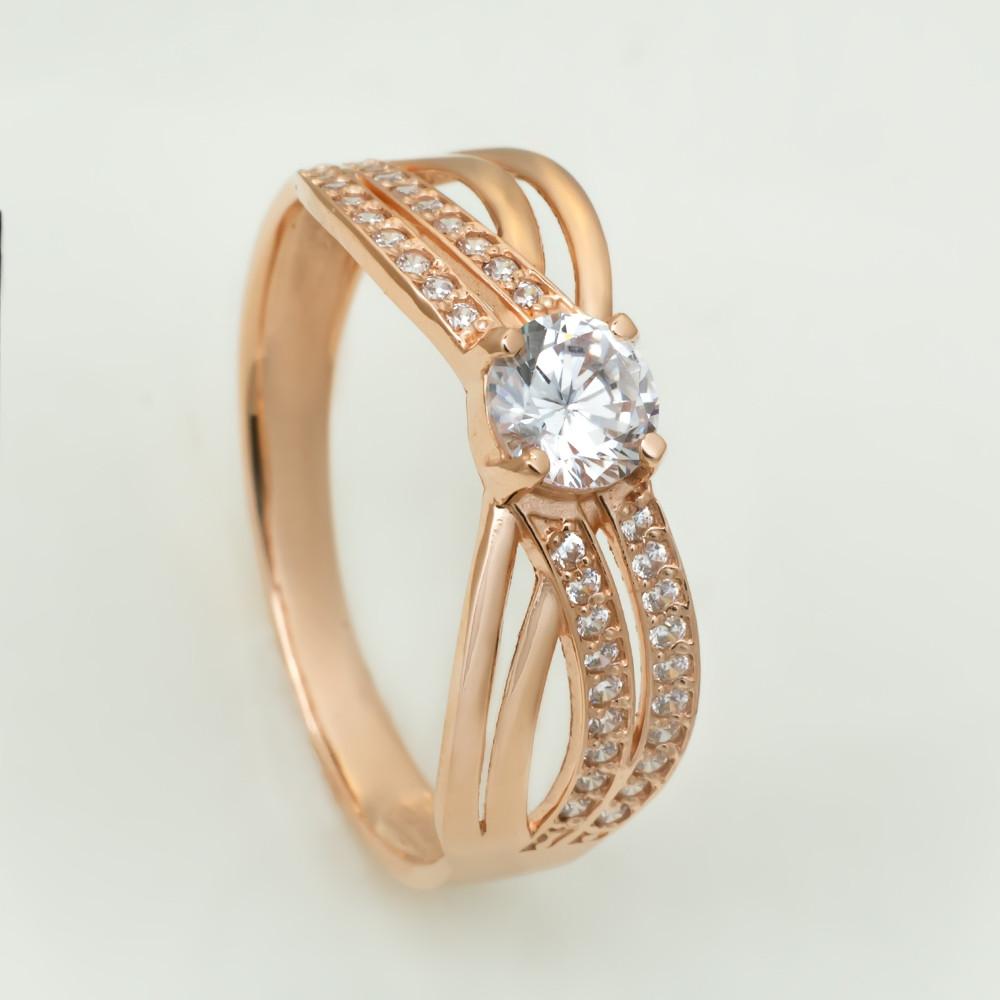 Золотое кольцо с фианитом. KП1753