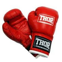 Боксерские перчатки THOR JUNIOR (PU) RED 10