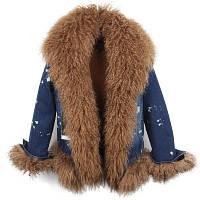 583e371c329 Джинсовая женская куртка с мехом в категории куртки женские в ...