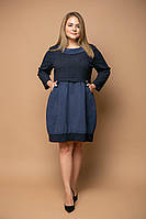 Модное платье-туника с карманами для полных женщин Лизи