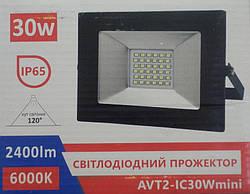 Прожектор Led 30W AVT2-IC mini,  6000К-2400Lm