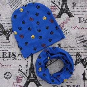 Демисезонный набор: детская шапка  и шарф-хомут