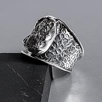 Метеорит Кампо-дель-Сьело, серебро 925, кольцо, 926КЦМ
