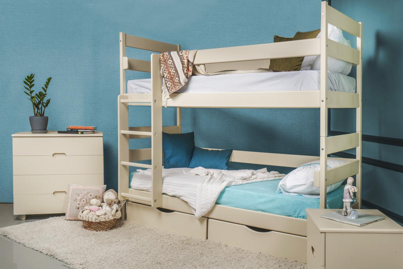Кровать двухъярусная деревянная Ясна с ящиками Микс мебель, цвет на выбор