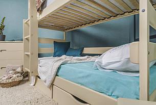Кровать двухъярусная деревянная Ясна с ящиками Микс мебель, цвет на выбор, фото 2