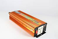 Инвертор преобразователь напряжения Power Inverter UKC 12V-220V 2000W Gold, фото 2