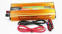 Инвертор преобразователь напряжения Power Inverter UKC 12V-220V 2000W Gold, фото 3