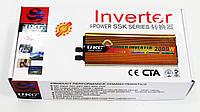 Инвертор преобразователь напряжения Power Inverter UKC 12V-220V 2000W Gold, фото 5