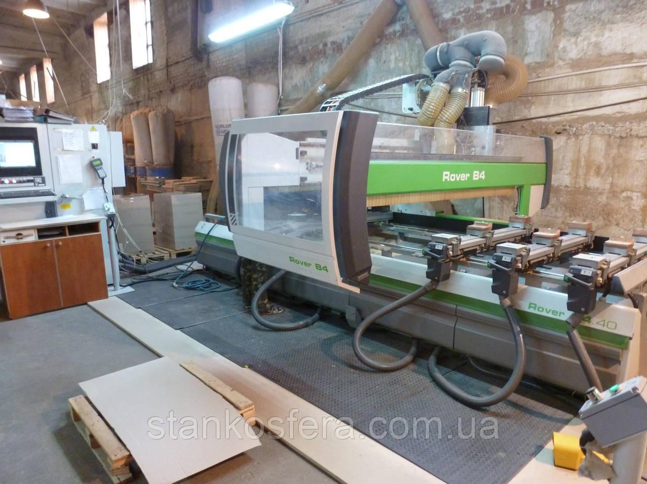 Обрабатывающий центр Biesse Rover B4.40 с ЧПУ бу 2007г. фрезерование, сверление, пазование