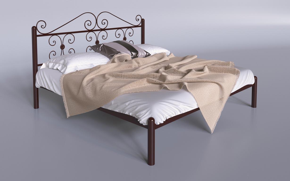 Кровать металлическая Бегония Tenero