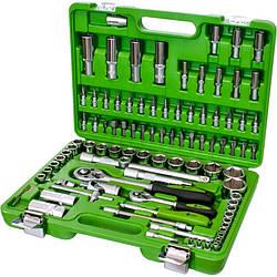 Набор инструментов Alloid квадраты 1/4'' и 1/2'' 94 предмета с 12 гранными головками (НГ-4094П-12)