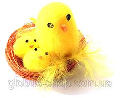 Цыплята в гнезде 3 шт