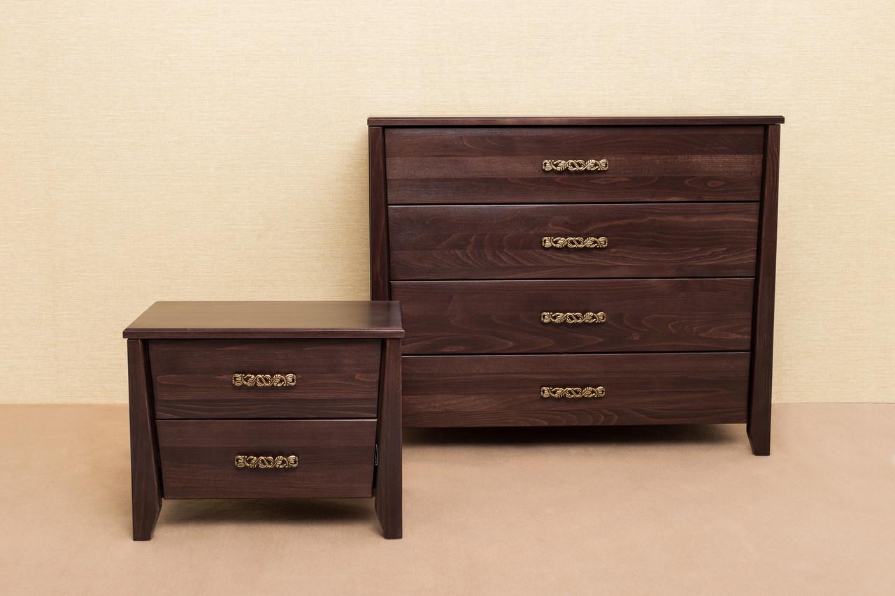 Комод деревянный  Сити Микс мебель, цвет темный орех