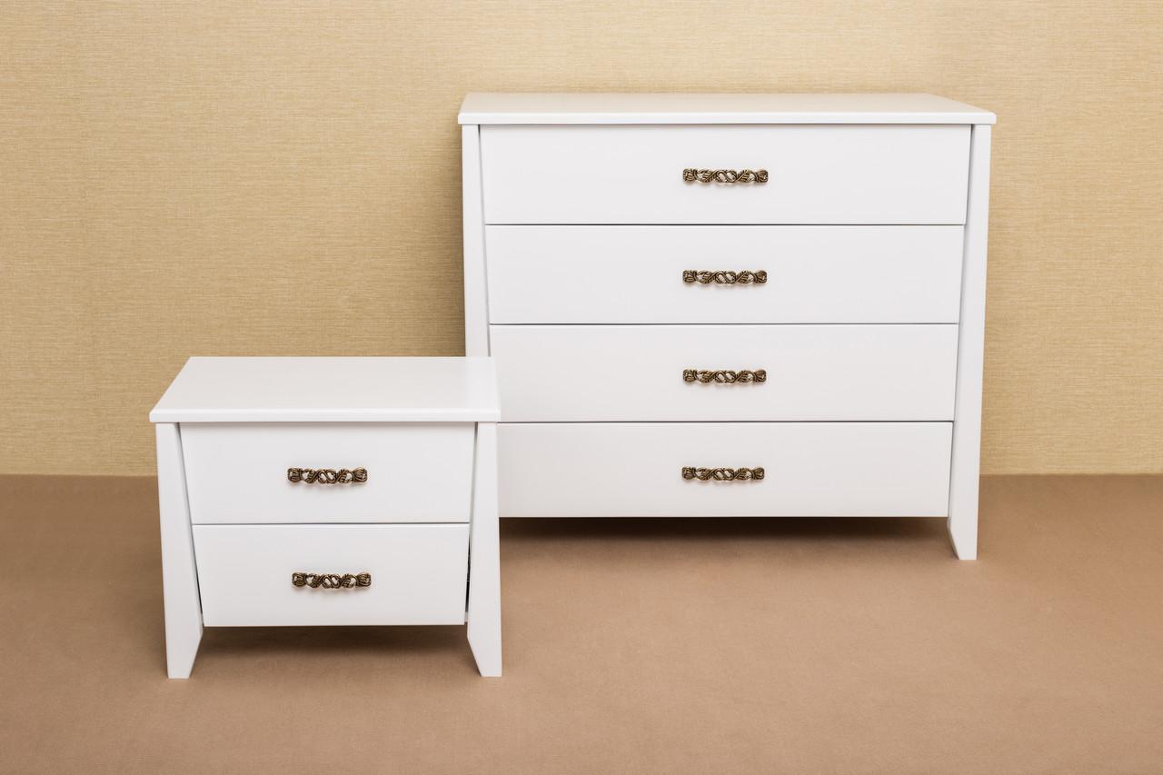 Комод деревянный Сити Микс мебель, цвет белый