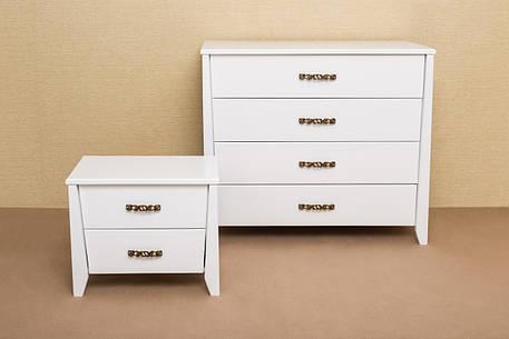 Комод деревянный Сити Микс мебель, цвет белый, фото 2