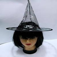 Шляпа ведьмы (детская)Прозрачная детская шляпа с рисунками золота и серебра. Цвет шляп: , чер