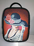 Сумка-рюкзак для вышивки бисером   Рюкзак Модель 1 С 7 черный кожзам, фото 2