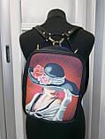 Сумка-рюкзак для вышивки бисером   Рюкзак Модель 1 С 7 черный кожзам, фото 3