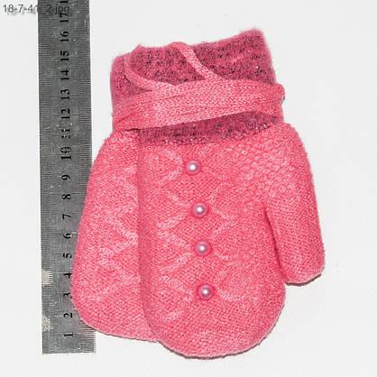 Оптом рукавички детские двойные с махровой подкладкой на 2-4 года - №18-7-41, фото 2