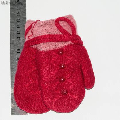 Оптом рукавички детские двойные с махровой подкладкой на 2-4 года - №18-7-41, фото 3