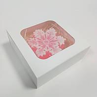 Коробка для мыла, сувениров, украшений белая 90х90х35 мм.