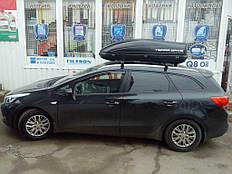 Установка автобокса на крышу автомобиля Kia Ceed SW 1