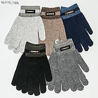 Оптом вязаные мужские перчатки - №18-7-13