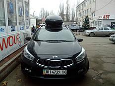Установка автобокса на крышу автомобиля Kia Ceed SW 3