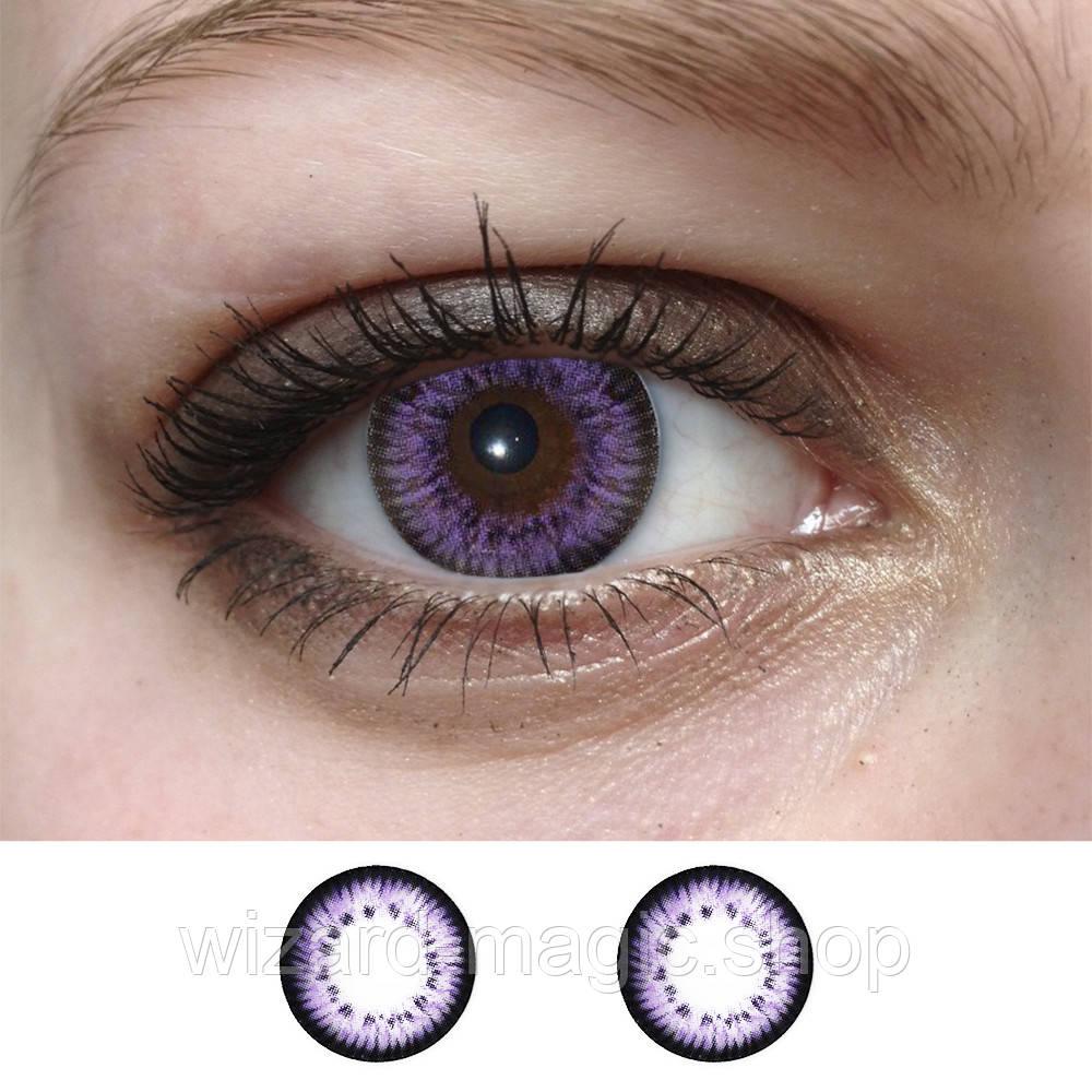 Линзы оттеночные Кукольные фиолетовые