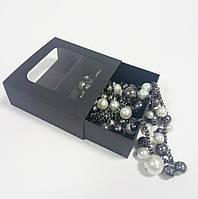 Коробочка-футляр (черная) 90х90х35 мм.