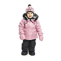 Зимний термокомплект BABY для девочки 1-3 года (рост 75-97 см) ТМ Peluche&Tartine Vinage Pink F18 M 10 BF, фото 1
