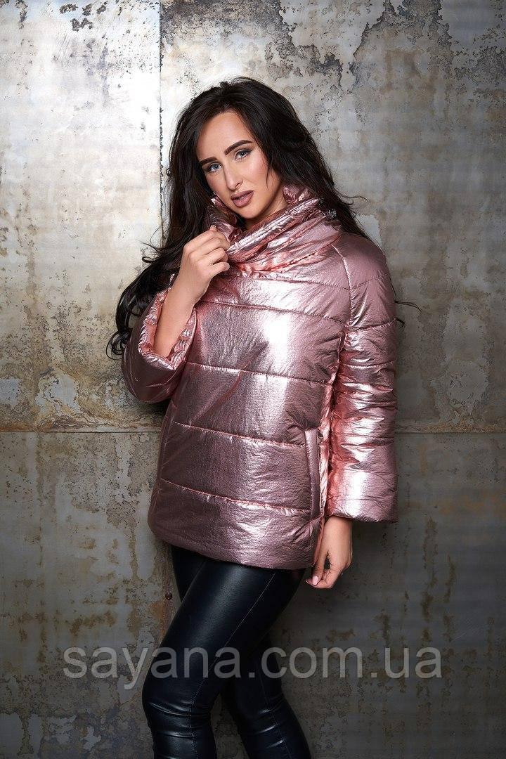 Женская утепленная куртка из плащевки в расцветках. А-19-0818