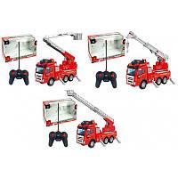 Машина пожарная детская с краном на радиоуправлении, 3 вида, в коробке