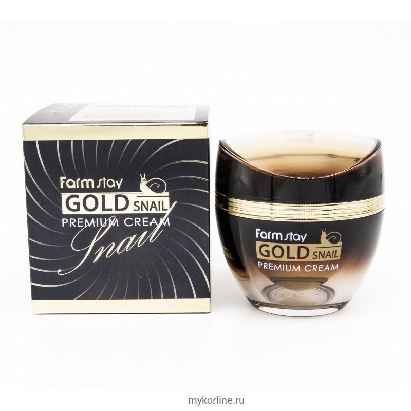 Антивозрастной Улиточный крем Farm Stay Gold Snail Premium Cream, 50ml