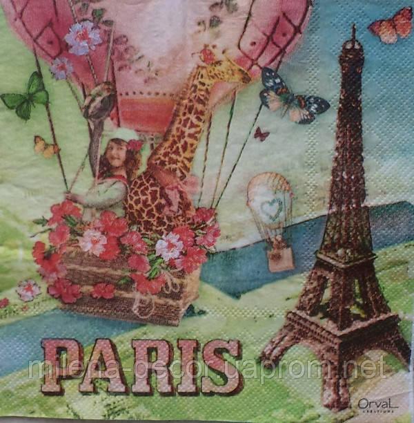 Салфетка для декупажа PARIS