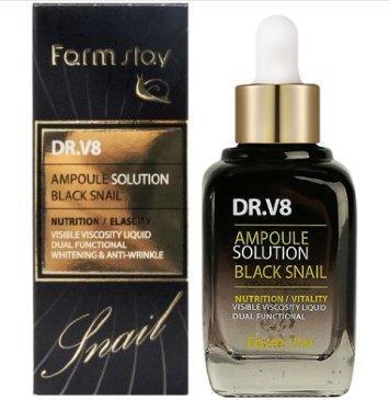 Ампульная  DR-V8 Ampoule Solution Black Snail, 30ml