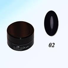 Гель краска для ногтей Nice Р-02 Черная