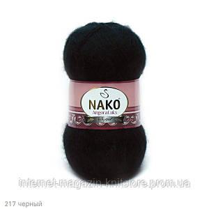 Пряжа Nako Angora Luks Черный