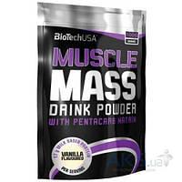 Гейнер BioTech USA Muscle Mass - 1000g клубника