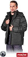 Куртка утеплена овчиною з відстібними рукавами робоча Reis Польща (зимовий спецодяг) DARKMOON B, фото 1