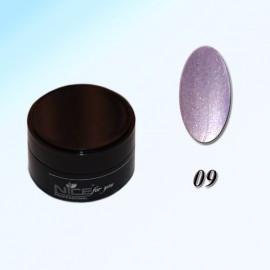 Гель краска для ногтей Nice Р-09 Серебро